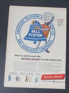 Original-Print-Ad-1948-WESTERN-ELECTRIC-Bell-Telephone-System-Vintage-Art