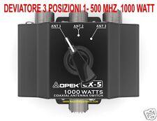 CX-5 OPEK COMMUTATORE DEVIATORE SWITCH ANTENNE 3 VIE DA 1 - 500 MHZ SO-239