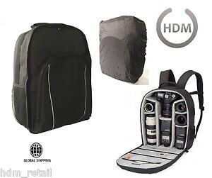 LARGE-Black-Camera-DSLR-SLR-Backpack-Rucksack-Bag-Case-For-Nikon-Sony-Canon