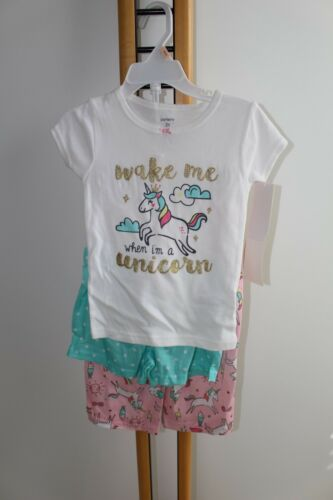 Carter/'s Carters Girls Size 2T  Unicorn Pajamas Sleepwear PJ/'s 3PC NWT