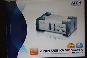 Aten 2 Port Usb Kvmp Switch Avec Audio Et Usb 1.1 Hub-câbles Inclus-afficher Le Titre D'origine