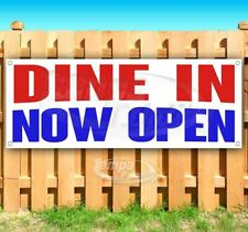 Dine In Now Open Advertising Vinyl Banner Flag Sign Many Sizes Usa