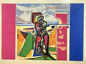 Peter Kovacs (Hungarian b. 1943) Abstract Figures - litho. signed/numbered COA