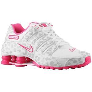 RARE-Nike-Shox-NZ-Cheetah-Running-Shoes-White-Pink-636088-110-Women-s-Size-9