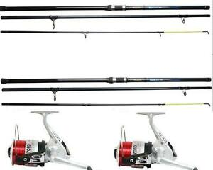 2 x okuma 15ft beach caster surf rods sea fishing 3pc 4 for Sa fishing 5 for 15