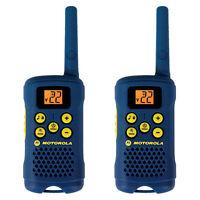 Motorola 2 Way 16 Mile Range 22 Channel Hiking Walkie Talkie Radios W/ Belt Clip