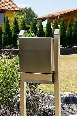 Briefkasten Standbriefkasten B Freistehend 165cm Edelstahl Va4 Inox 1.4571