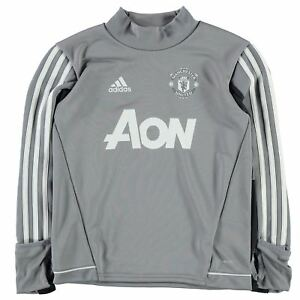 Details about adidas Kids Boys Manchester United Training Top Junior Short  Sleeve Performance b0fa86648374