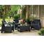 miniatura 3 - 4 PEZZI Keter Rattan Mobili da Giardino Set Sedie Divano Tavolo da giardino veranda