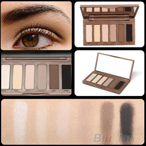WOMEN'S DURABLE 6 BASIC COLORS MINI EYESHADOW PALETTE POWDER MAKEUP COSMETIC