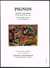 1970's Vintage 1970 Pignon Exhibitions Musee & Reichenbach Art Gallery Print AD