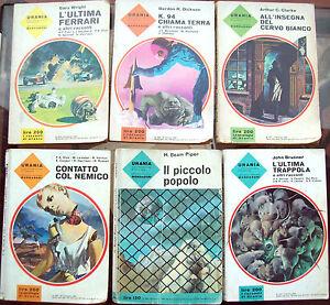 1962-6-ROMANZI-URANIA-N-298-344-359-367-368-372-PIPER-BRUNNER-CLARKE