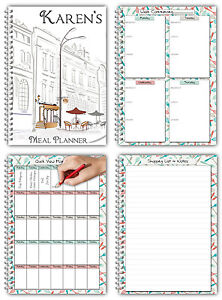 a5 meal planner 3 month meal menu planning personalised cover ebay