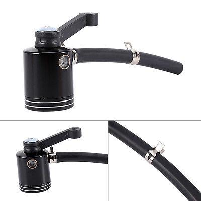 New Black Front Brake Clutch Tank Cylinder Fluid Oil Reservoir For Motorcycle