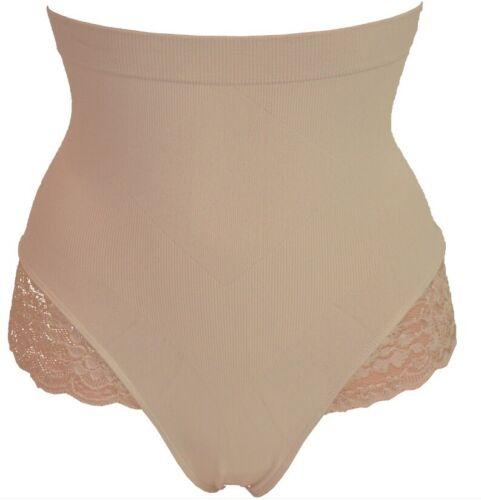 M L Size 8-20 XL UK New G String High Waist Thong Body Shaper Skin//Nude S