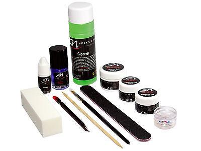UV 3 in 1 Phasen Gel Nagelgel Set French Gel weiß pink Nagel Cleaner Tipkleber