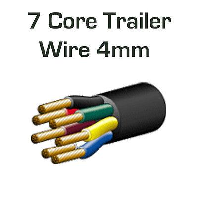 7 CORE TRAILER WIRING - HEAVY DUTY 4MM - FROM ABR | eBay Heavy Duty Trailer Wiring on