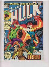 Incredible Hulk #166 VG+ steve englehart - 1ST ZZZAX - guest stars hawkeye 1973