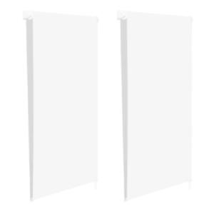 max 170 CM blancs Lot de 2 stores enrouleurs 100/% occultants l.60 x H