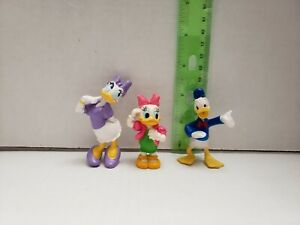 "Vintage Donald Duck Walt Disney Lot of 3 Figurines 2"""