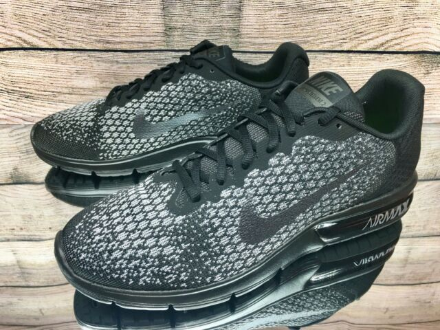 a0da5390bb8bcb Nike Air Max Sequent 2 Black Grey 852461-001 Running Shoes Men s Size 11.5  New