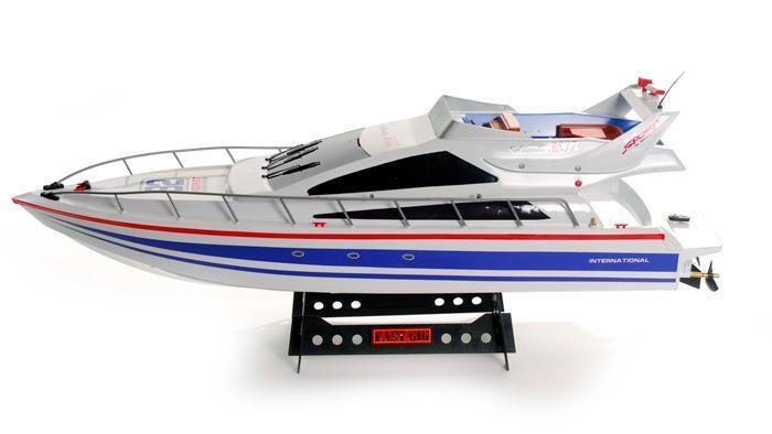 Telecouomodo Radio cm TWIN TWIN TWIN ELICA BARCA di potenza dell'Oceano Atlantico Yacht RC 389439