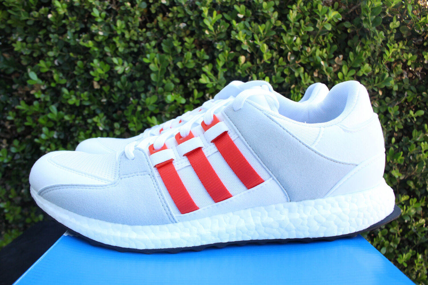 ADIDAS EQT SUPPORT ULTRA SZ 8 WHITE BOLD ORANGE GREY BY9532