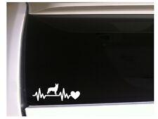 "German Shepherd Heartbeat Lifeline vinyl car decal 7.5"" *M40 Pets Sticker Dog"