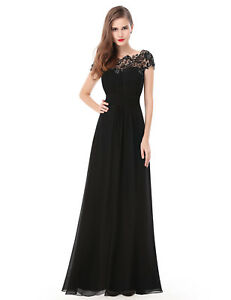 Ever-Pretty Graceful Black Cocktail Evening Formal Party Maxi Dress 09993 Size 4 Black 18