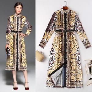 9995981b4d0 Image is loading EB24-Women-Designer-Inspired-Animal-Print-Shirt-Dress-