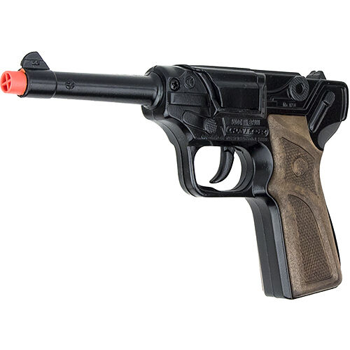Luger Semi-Automatic  Pistol 8 Shot Cap Gun - Black