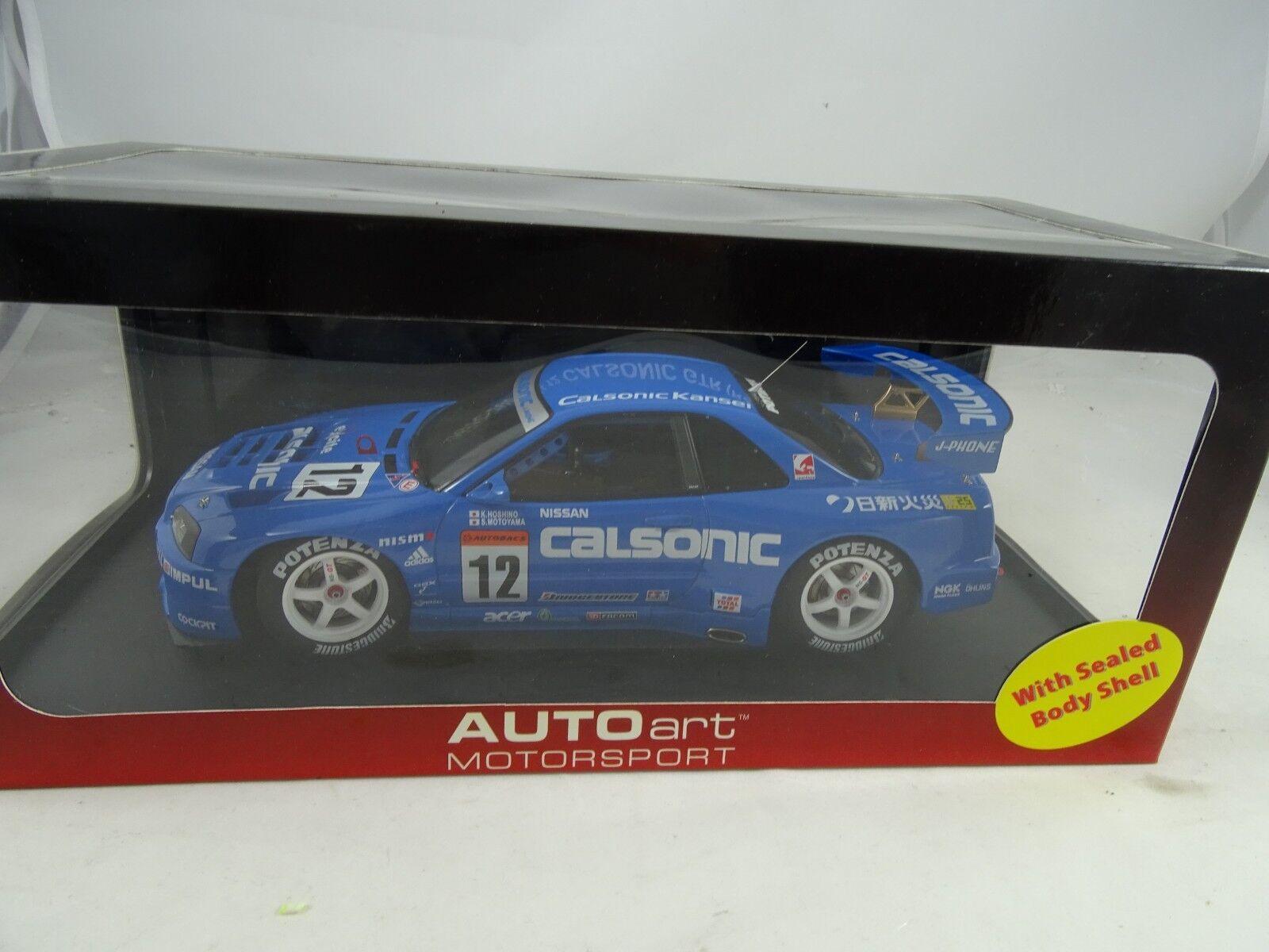1:18 Autoart  80176 Nissan Skyline R34 Jgtc 2001 Calsonic  12 Blu - Rarità