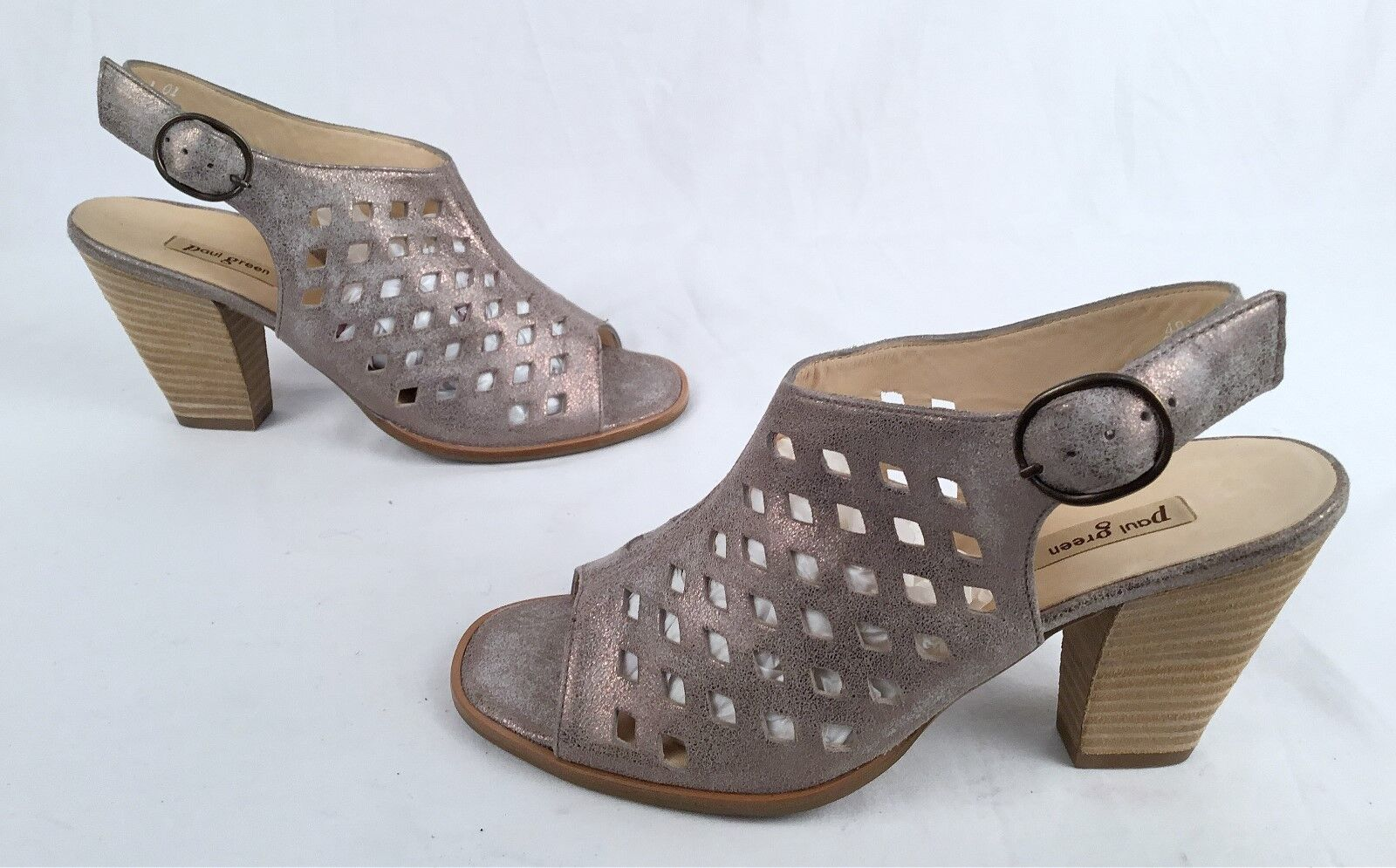 NEW   Sandal-Metallic Paul Grün Perforated  Sandal-Metallic   Leder- US 6.5/ AU 4- $359 (P49) 5275d2