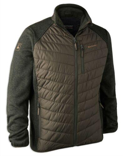 Deerhunter Mens Moor Padded Fleece//Knit Jacket Timber