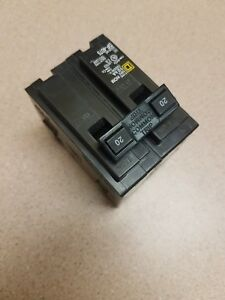 NEW-Square-D-Homeline-HOM220-Double-Pole-20A-Circuit-Breaker-New-Electrical