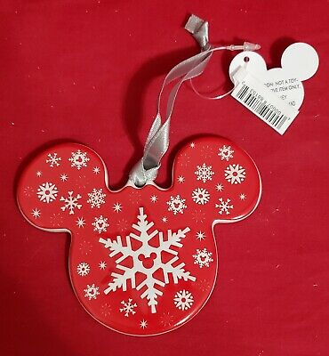 Disney/'s Holiday Collection Mickey Mouse Ears Ornament Disney Parks World silver