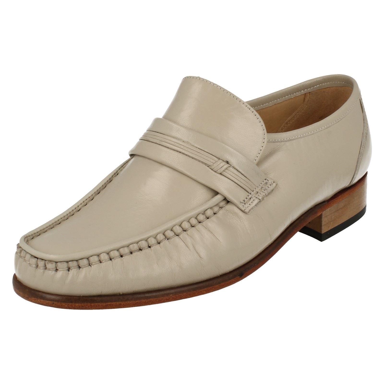 Grenson CLAPHAM 33342-78 Mens Ivory Leather Slip-on shoes (38A) (Kett)