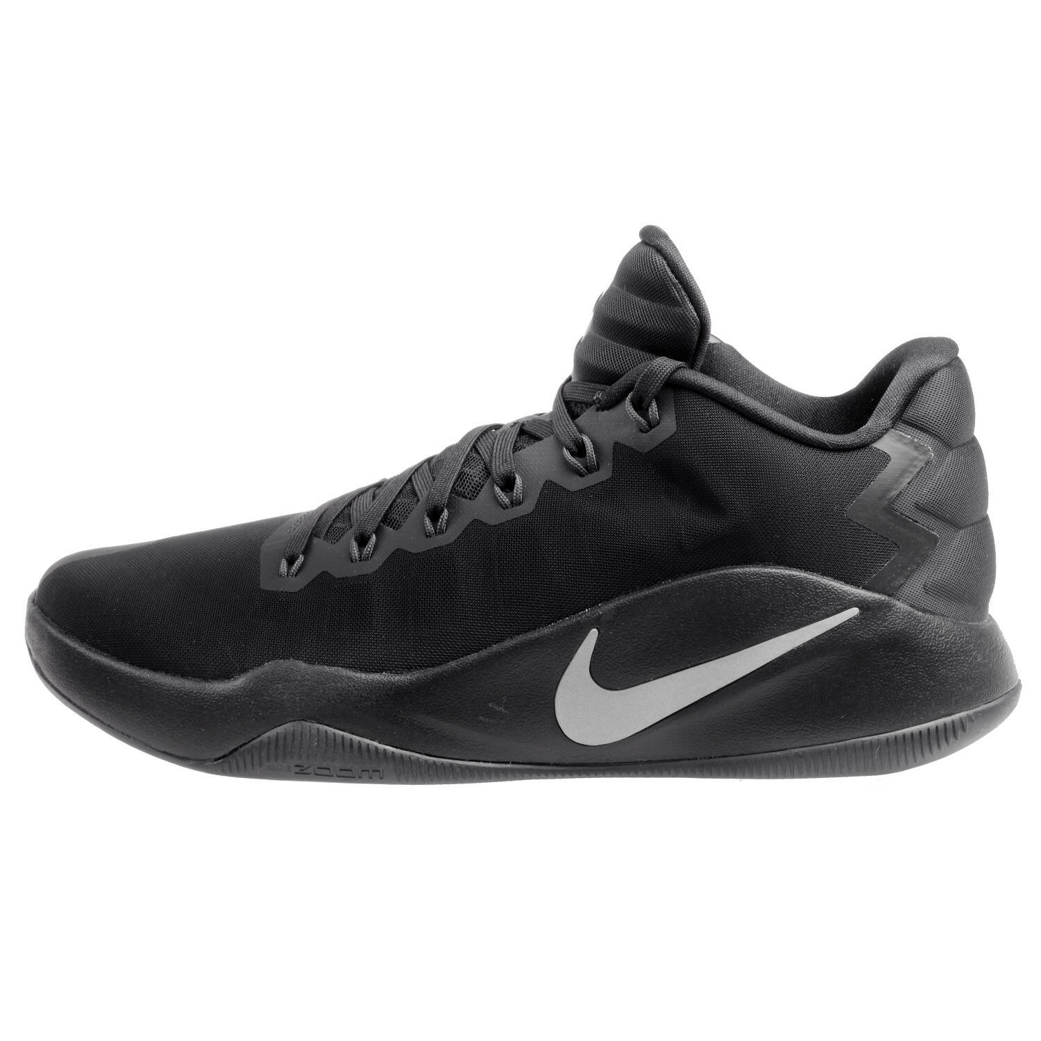 Nike Hyperdunk 2018 Low Mens 844363-002 Black Silver Basketball Shoes Comfortable