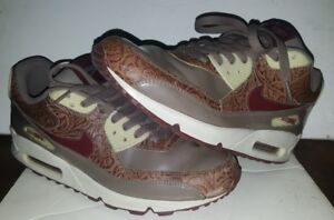 new product 46d0e be8ac Details about NIKE AIR MAX 90 PREMIUM ORWOOD BROWN RED EARTH WOMENS 11 MENS  9.5 OOP