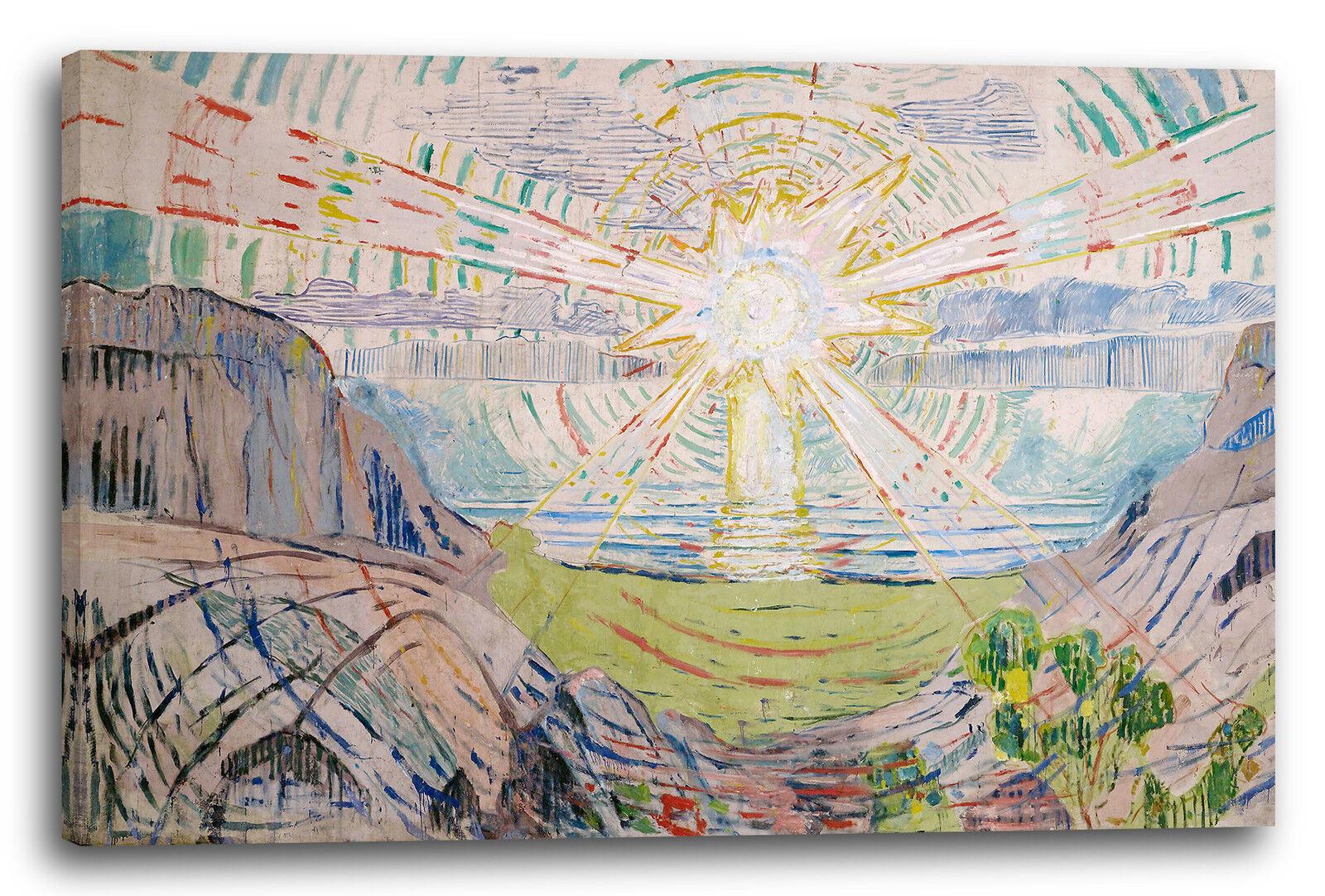 Lein-Wand-Bild Kunstdruck  Edvard Munch - Die Sonne (1910 1911)