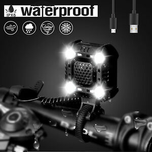 USB-Rechargeable-LED-Bicycle-Headlight-Bike-Head-Light-Cycling-Strobe-Lamp-Horn