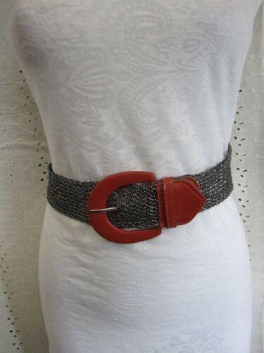 "18/"" FAUX LEATHER half Belt Buckle Embellishment Decorative RED"