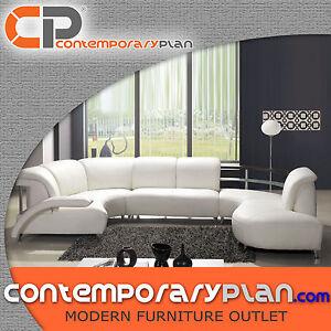 Fabulous Details About Contemporary Curved White Italian Leather Sectional Modern Elegant Design Sofa Interior Design Ideas Truasarkarijobsexamcom