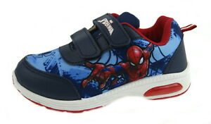 Sonderverkäufe wähle echt besondere Auswahl an Details about Marvel Spiderman Light Up Sports Trainers Boys Touch  Fastening Lightweight Shoes
