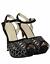 Femmes Femmes Talon Aiguille Haut Plateforme Peep Toe Filles à Lanières à Chaussures