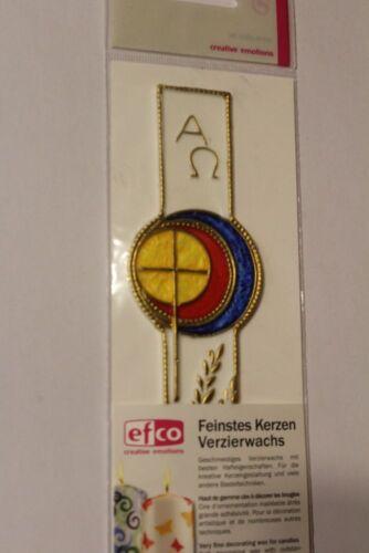 Verzierwachs despierta decoración cruz espiga de trigo multicolor 140 50mm