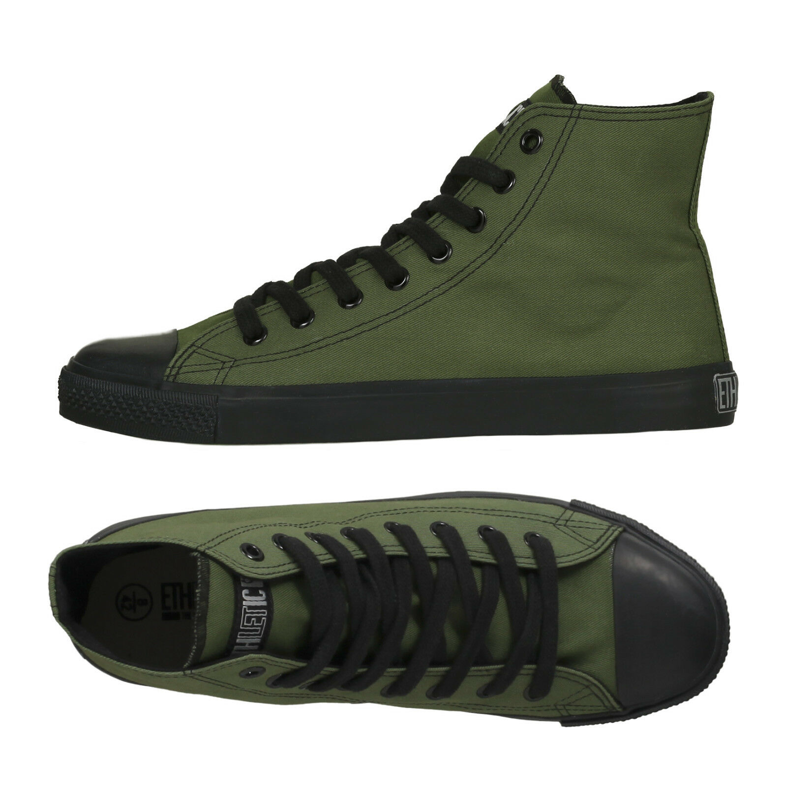 ff9b431cd0bcd Ethletic zapatos vegetariana bio Fairtrade cortos High Cut verde oliva negro  zapatillas de deporte