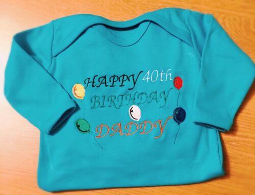 Newborn Gift Personalised Daddy Birthday 30th,40th,50th...Baby Grow,Sleepsuit