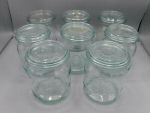 SET aus 8 Vorratsgläsern / Einmachgläsern je 1000 ml - Rillenglas