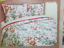 Scent-Sation TROPICAL RETREAT FLOWER Reversible Full/Queen Quilt & Shams Set NEW
